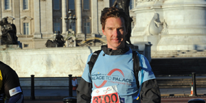Benedict Cumberbatch on the Palace to Palace cycle ride