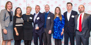 The team from VM Ware with their award
