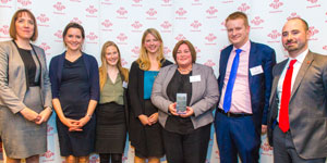 The team from Barclays with their award