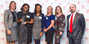 The team from Capita with their award