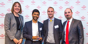 The team from Morgan Stanley with their award