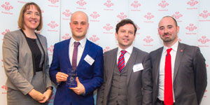 The team from BGL with their award