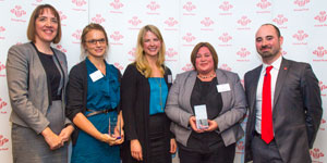 Accenture and Barclays teams with their awards