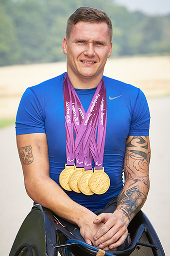David Weir with his London 2012 gold medals