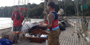 Prince's Trust supported young people on a boat