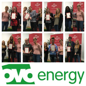 Mel on the Get into Customer Service programme with OVO Energy