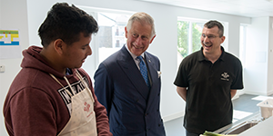 HRH meets young people on Fairbridge programme at Poplar