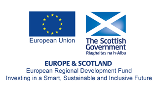 European Regional Development Fund and Scotland logo