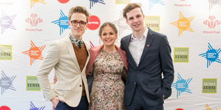 Tom and Giovanna Fletcher with Young Ambassador Zack Chandler