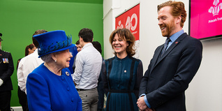 Damian Lewis and Helen McCrory meet HM The Queen