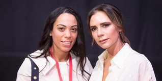 Young Ambassador Grace Graham with Victoria Beckham OBE