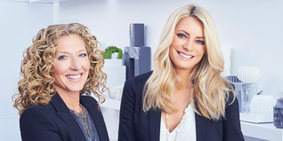Kelly Hoppen with Tess Daly