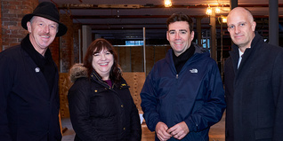 Tom Bloxham, Joanne Roney, Greater Manchester Mayor Andy Burnham and Prince's Trust CEO Nick Stace