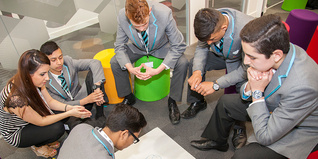Young people in classroom discussion groups