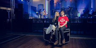 Celebrity ambassador Paloma Faith with Young Ambassador Alex