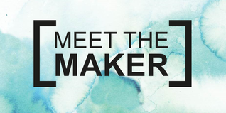 Meet the Maker logo on blue marble design