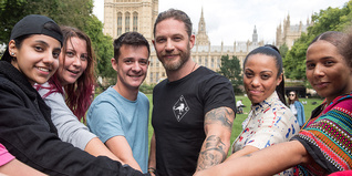 Tom Hardy and Young Ambassadors in Westminster