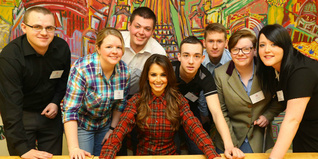 Cheryl meets young people supported by The Trust