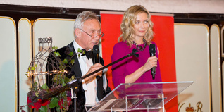 Rachel Riley hosting the Fashion Dinner