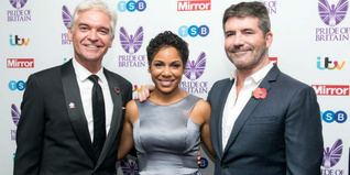 Francesca Brown, our Prince's Trust Young Achiever Award winner at Pride of Britain Awards 2016 alongside (left) Philip Schofield and (right) Simon Cowell