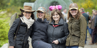 A team at the Gleneagles Clay Pigeon Shoot