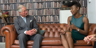 HRH The Prince of Wales meets a young entrepreneur