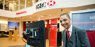 Young person at HSBC