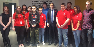 MP Matthew Hancock with young people on the Team programme in Glasgow
