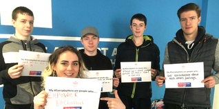 Trust-supported young people sharing their #everydayhero message