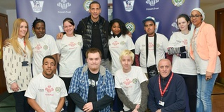 Rio Ferdinand with young people