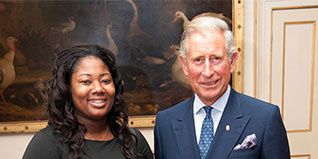 HRH The Prince of Wales meets Gina Moffatt