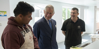 HRH The Prince of Wales visits the new Prince's Trust and Morgan Stanley Poplar centre