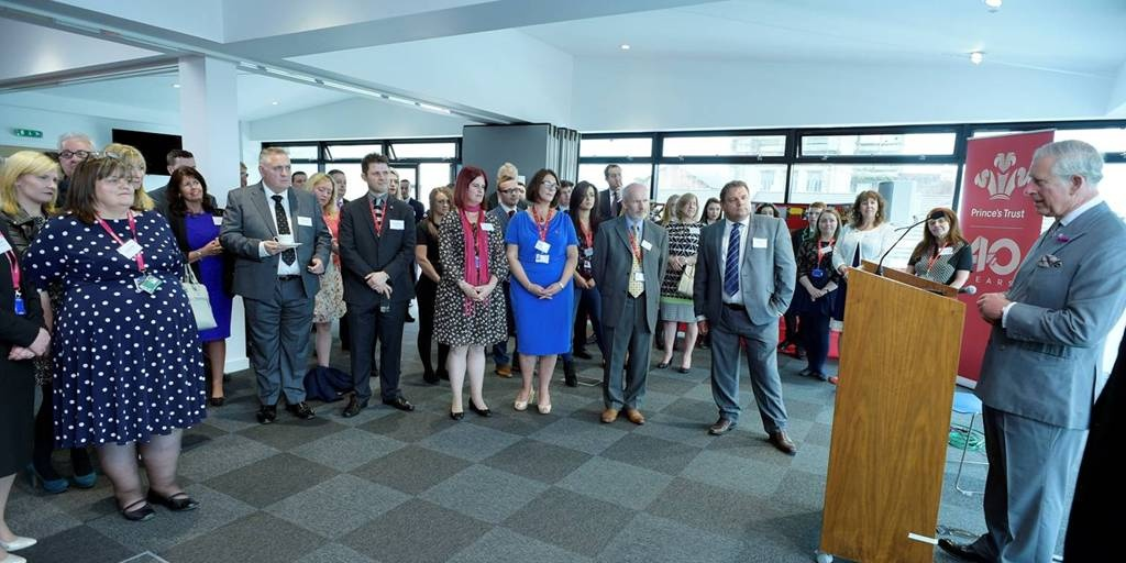 HRH inspires guests at the opening of The Prince's Trust Wolfson Centre
