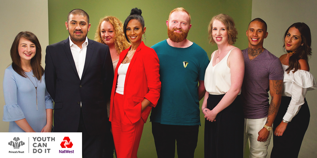 Alesha Dixon and Prince's Trust supported businesses at film shoot