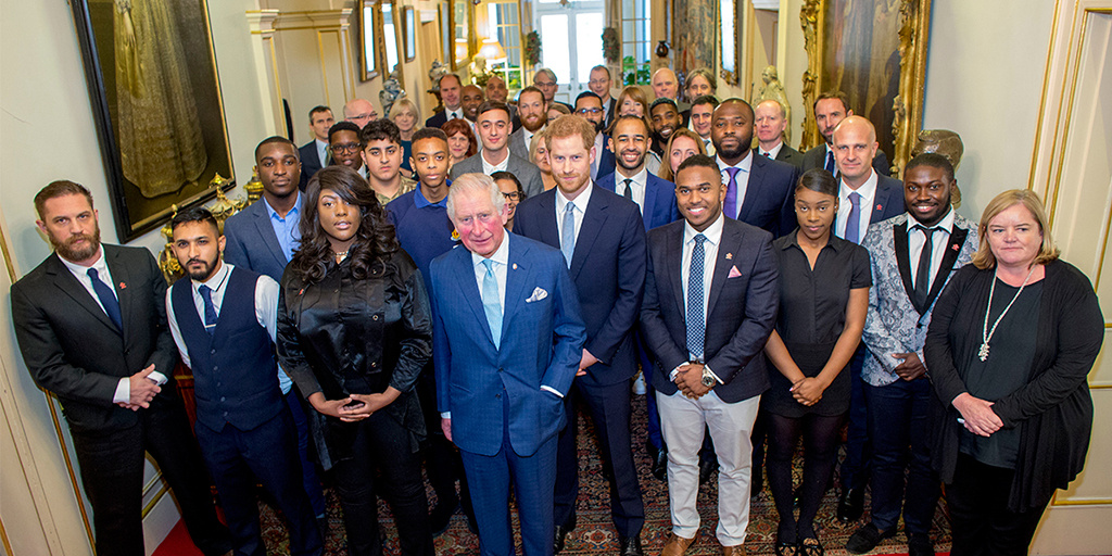 HRH The Prince of Wales with The Duke of Sussex at Clarence House with youth crime representatives.