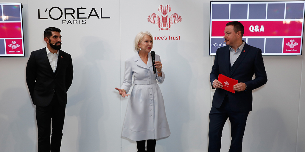 L'Oreal, Dame Helen Mirren and Prince's Trust launch partnership at Kennington