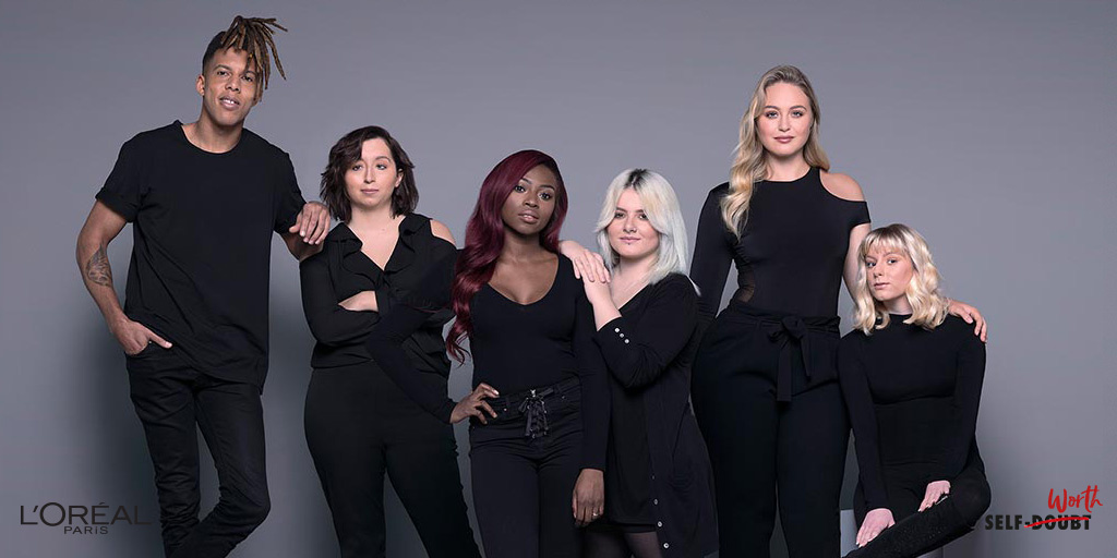 L'Oreal Paris spokesmodels with Prince's Trust young people