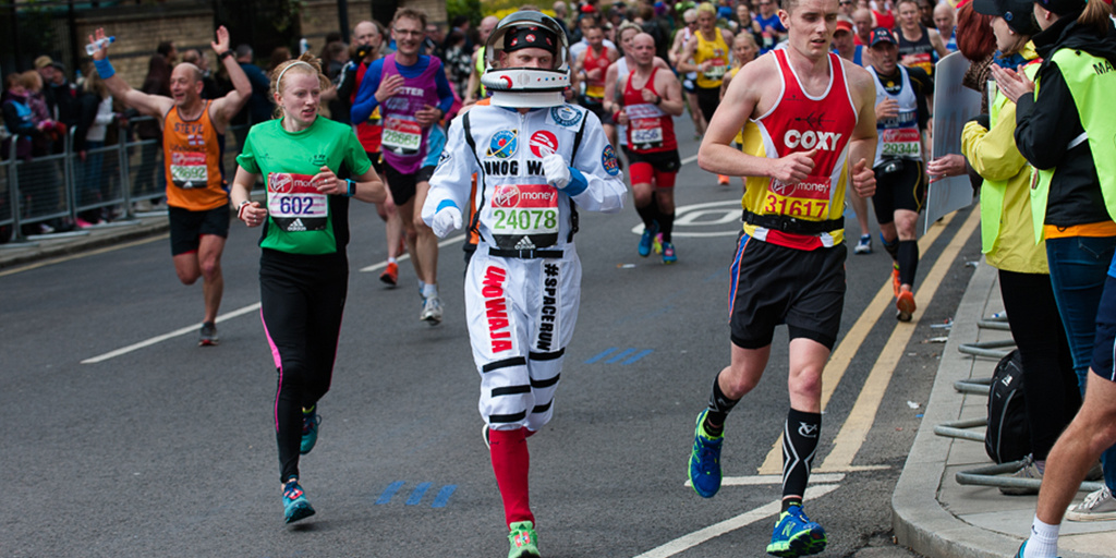 London Marathon runner in fancy dress