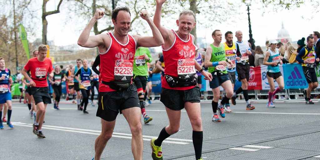 London Marathon duo run together