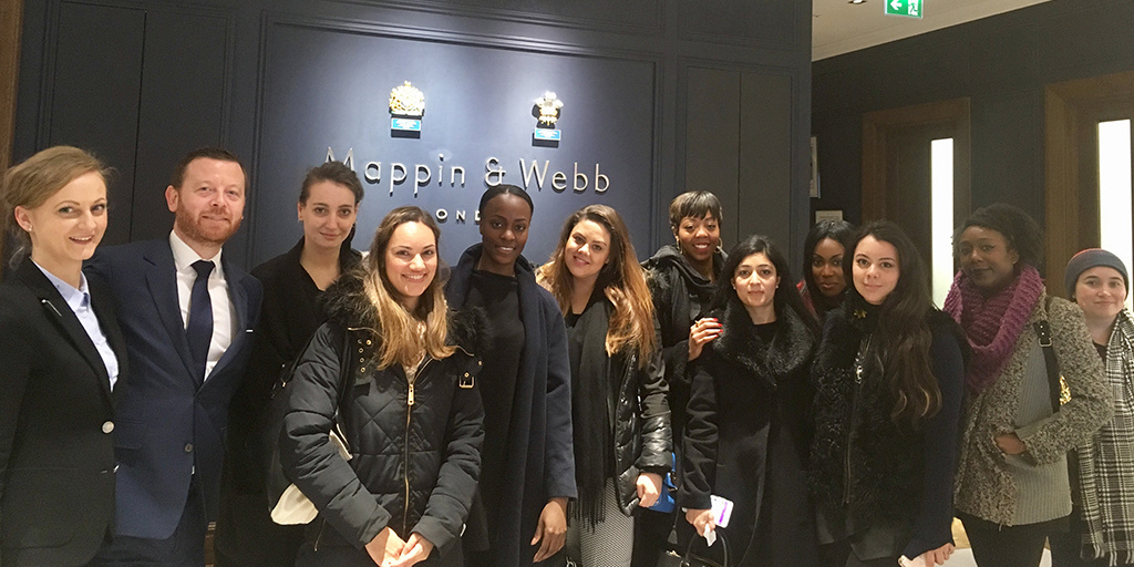 Young entrepreneurs attend Mappin and Webb store