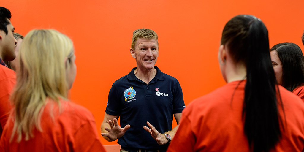 Astronaut Tim Peake shares stories with Prince's Trust Young Ambassadors