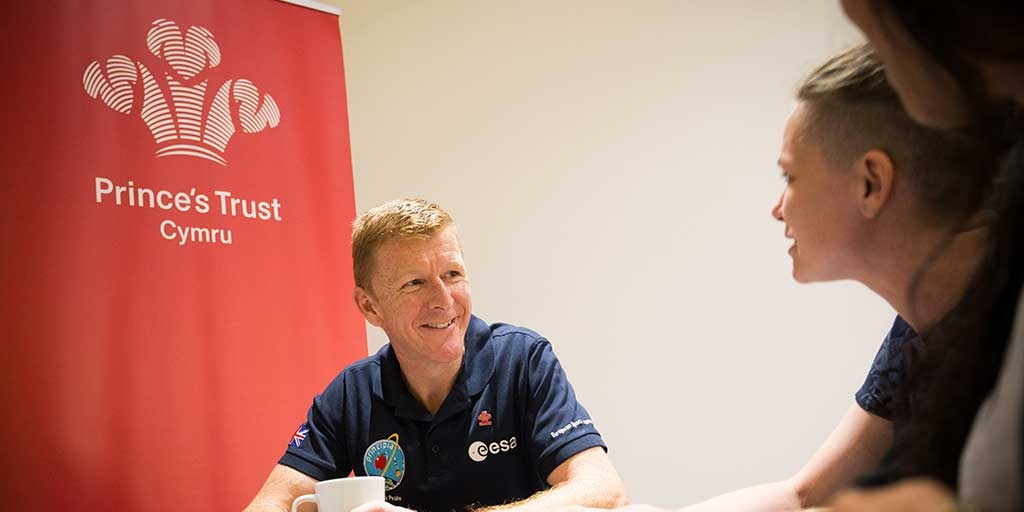 Astronaut Ambassador Tim Peake with Prince's Trust young people