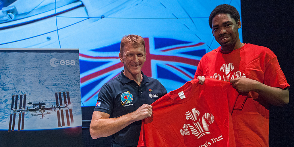 Tim Peake reaches for the moon for The Prince's Trust