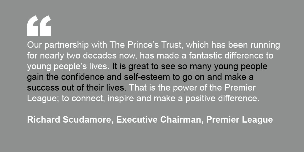 Richard Scudamore's Endorsement for The Prince's Trust
