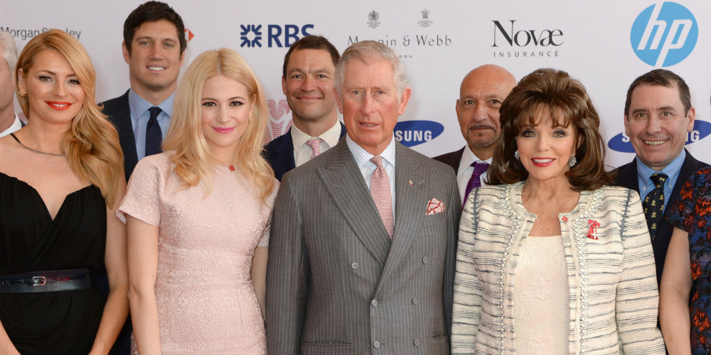HRH with celebrities at Celebrate Success