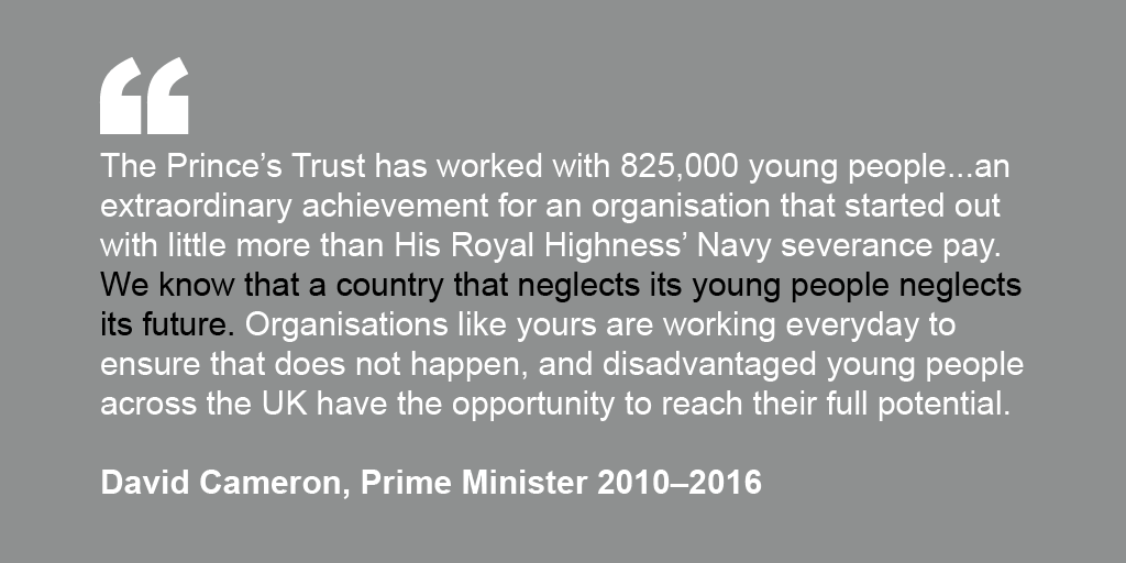 David Cameron's endorsement for The Prince's Trust