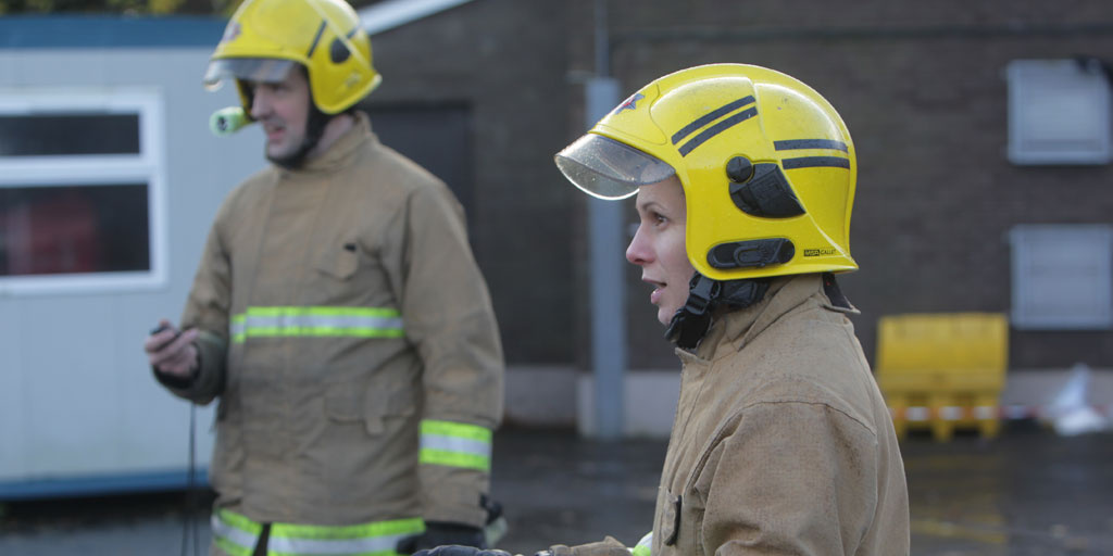 Fire Service personnel delivering a Team programme