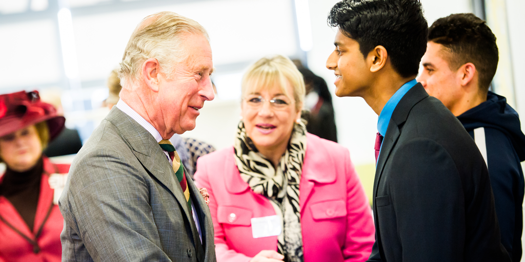 HRH The Prince of Wales meets Prince's Trust young people in Leicester