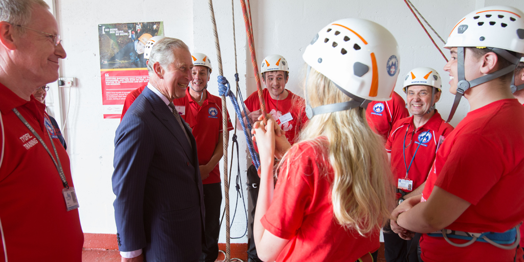 HRH The Prince of Wales talks to young people in Merthyr Tydfil