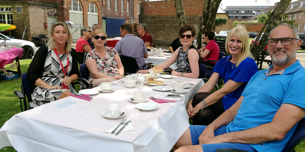 Kent tea in the Historic Dockyard at Chatham to celebrate National Volunteers' Week